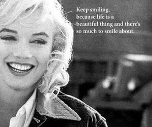smile, Marilyn Monroe, and quote image