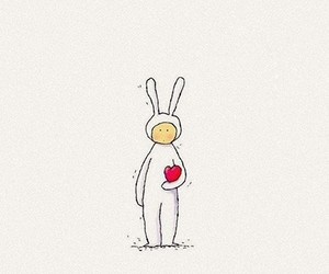 bunny, draw, and drawing image
