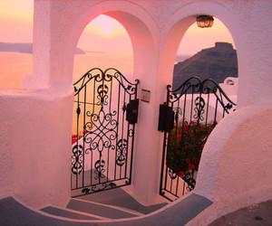 sunset, Greece, and sun image