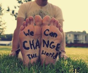 change, world, and feet image