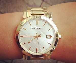 watch, Burberry, and fashion image