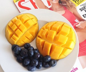 fitness, fruit, and girl image