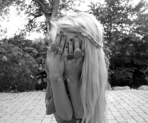 girl, blonde, and rings image