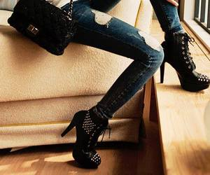 fashion, heels, and rock style image
