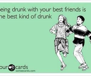 best friends, drunk, and funny image