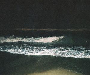 sea, night, and beach image