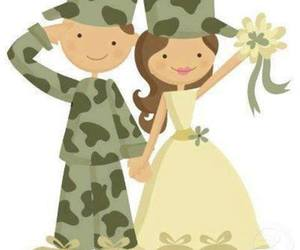 army, wedding, and army love image