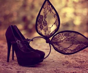 heels, black, and fashion image