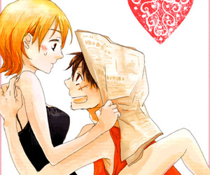 lovely, one piece, and monkey d. luffy image