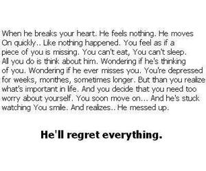 he, regret, and true story image