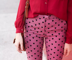 fashion, pink, and hearts image