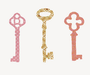 key, art, and pink image