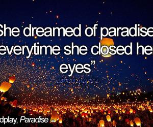 coldplay, Dream, and Lyrics image