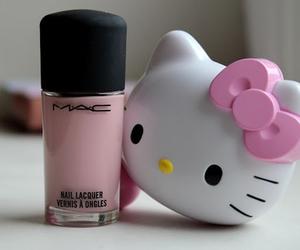hello kitty, mac, and pink image