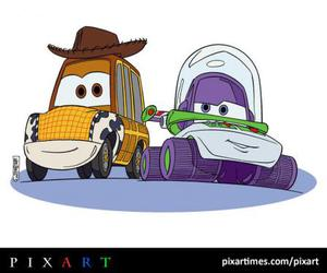 buzz, toy story 3, and cars image