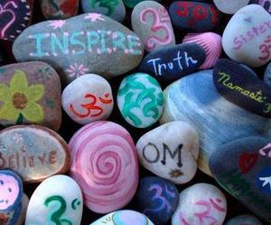 inspire, believe, and stones image