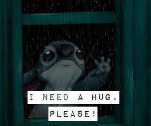 hug, stitch, and please image