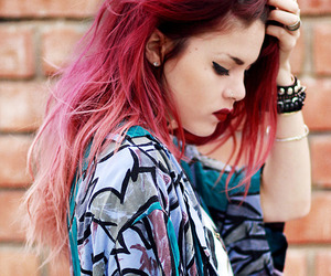 hair, hipster, and red image