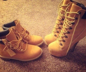 shoes, timberland, and heels image