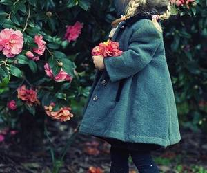 flowers, child, and little girl image