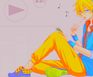 kagamine len, play, and vocaloid image