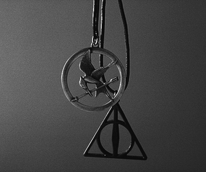 harry potter, hunger games, and necklace image