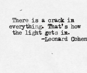 quotes, leonard cohen, and light image