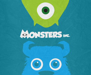 mike, monster, and monster inc image