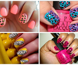 color, leopard, and nail art image