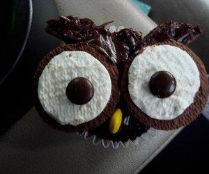chocolate, cupcake, and owl image