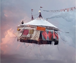 circus, sky, and fly image