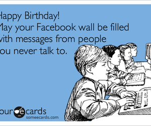 birthday, facebook, and funny image