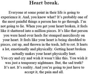 break, love, and broken image