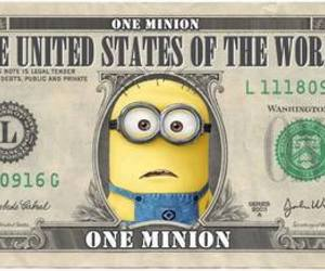 minions, money, and dollar image
