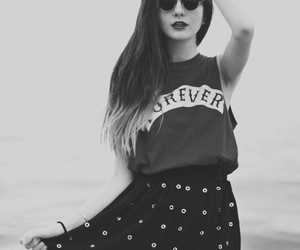 girl, black and white, and clothes image