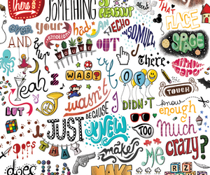 crazy, words, and wallpaper image