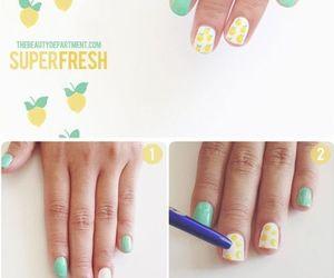 nails, lemon, and diy image