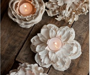 candle, flower, and decor image