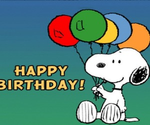 birthday, happy, and snoopy image