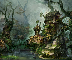 illustration and swamp image