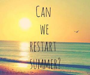summer, restart, and beach image