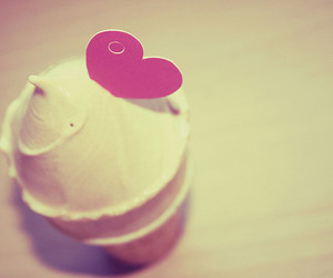 heart, ice cream, and food image