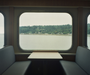 minimalism, sea, and train image