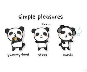 panda, music, and sleep image