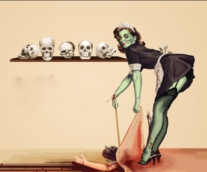 zombie, skull, and sexy image
