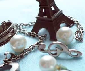 music, paris, and pearls image