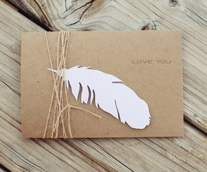 feather, love, and Letter image