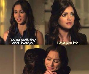aria, pll, and spencer image