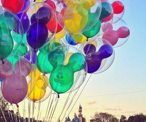 balloons, disney, and disneyland image