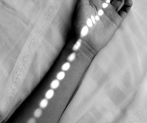 light, hand, and pale image